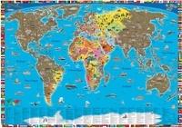 Craenen - Poster du monde illustré - Cartes à gratter.