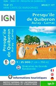 IGN - Presqu'île de Quiberon - 1/25 000.