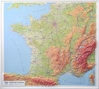 IGN - Relief de la France - Carte en relief 1/1 160 000.