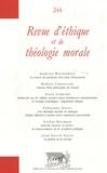 Andrzej Wachowicz et Robert Chenavier - Revue d'éthique et de théologie morale N° 244 : .