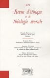 Eric de Clermont-Tonnerre - Revue d'éthique et de théologie morale N° 270, Septembre 20 : .