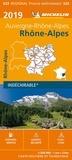 Michelin - Rhône-Alpes, Auvergne-Rhône-Alpes - 1/200 000 - indéchirable.