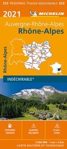 Michelin - Rhône-Alpes - 1/200 000, indéchirable.
