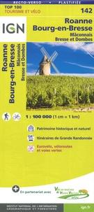 IGN - Roanne Bourg-en-Bresse Mâconnais Bresse et Dombes - 1/100 000.