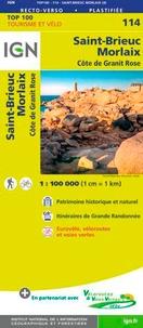 IGN - Saint-Brieuc, Morlaix, Côte de Granit Rose - 1/100 000.