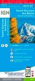 IGN - Saint-Gervais-les-Bains Massif du Mont Blanc - 1/25 000, plastifiée-résistante.