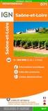IGN - Saône-et-Loire - 1/150 000.