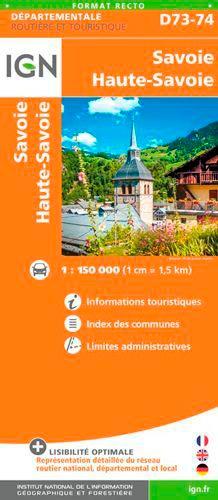 IGN - Savoie, Haute-Savoie - 1/150 000.