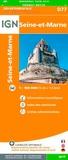 IGN - Seine-et-Marne - 1/150 000.