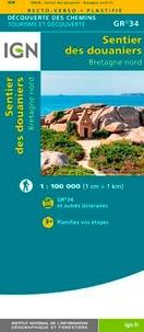 IGN - Sentier des douaniers Bretagne Nord GR 34 plastifié - 1/100 000.