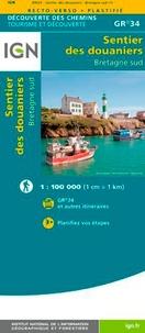 IGN - Sentier des douaniers Bretagne Sud GR 34 plastifié - 1/100 000.