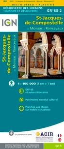 IGN - St-Jacques-de-Compostelle de Moissac à Roncevaux GR 65-2 - 1/100 000.