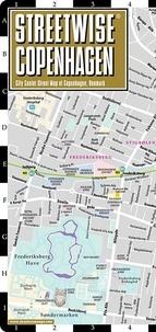 Michelin - Streetwise Copenhagen, 1/8 300 - City Center Street Map of Copenhagen, Denmark.