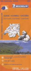 Michelin - Suisse sud-ouest - 1/200 000.
