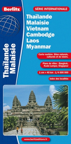 Berlitz - Thailande-Malaisie-Vietnam-Cambodge-Laos-Myanmar - 1/4 000 000.