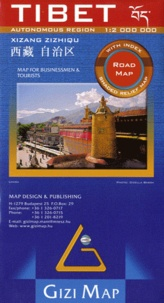 Gizi Map - Tibet - 1/2 000 000, Map for Businessmen & Tourists.