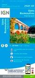 IGN - Uzès, Remoulins, Pont du Gard - 1/25 000.