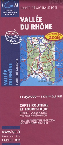 IGN - Vallée du Rhône - 1/250 000.