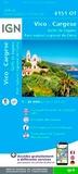 IGN - Vico, Cargèse, Golf de Sagone - 1/25 000.
