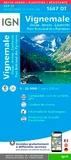 IGN - Vignemale, Ossau, Arrens, Cauterets, Parc national des Pyrénées - 1/25 000, Recto-verso, plastifiée-résistante.