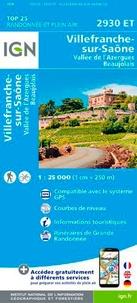 IGN - Villefranche-sur-Saône, Vallée de l'Azergues, Beaujolais - 1/25 000.