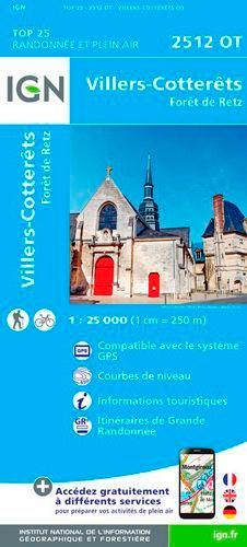 IGN - Villers-Cotterêts - 1/25 000.