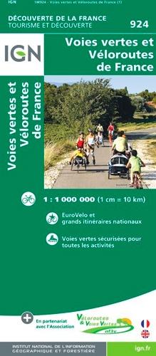 IGN - Voies vertes et Véloroutes de France - 1/1 000 000.