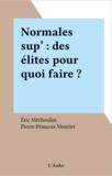Mechoulan et Jean-Louis Mourier - Normales sup', des élites pour quoi faire ?.