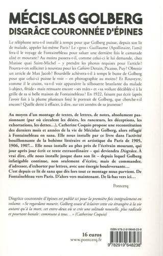 """Disgrâce couronnée d'épines, journal d'un homme qui meurt. Suivi d'un choix de lettres, de """"Dans la contagion de Méclisas Golberg"""" d'André Rouveyre (1922), et d'un Envoi (Aux """"littérateurs"""" parisiens) """"je voudrais..."""""""