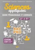 Meige Corpet et Karine Costanzo - Sciences appliquées 2de, 1re, Tle Bac Pro cuisine CSR - Guide pédagogique et corrigés.
