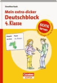 Mein extra-dicker Deutschblock 4. Klasse.