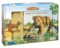 Mein Tierspielbuch: Komm mit, kleiner Löwe! - Pappbilderbuch mit Schleich-Tierfigur in Spielkoffer.