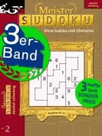Meister-Sudoku 3er-Band Nr. 2.