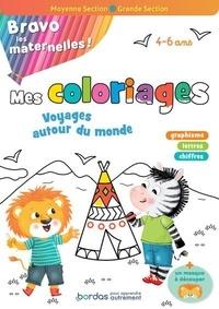 Mélanie Combes et Cécile Hudrisier - Mes coloriages variés et progressifs moyenne section-grande section - Avec un masque à découper.