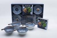 Mélanie Denizot et Elise Lepage - Mes bols santé, poke bowls et buddha bowls - Avec un livre de 24 recettes, 4 bols en céramique, 4 paires de baguettes.