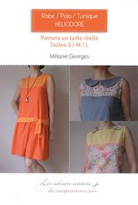 Mélanie Georges - Robe polo tunique Héliodore - Patrons en taille réelle, tailles S-M-L.