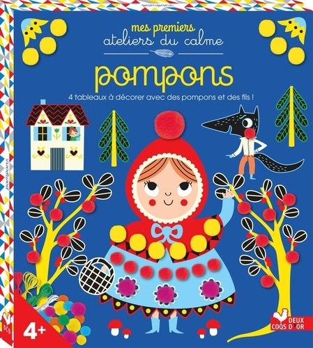 Mélanie Grandgirard - Pompons - 4 tableaux à décorer avec des pompons et des fils !.