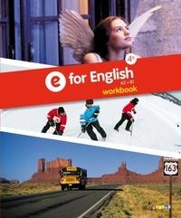 Mélanie Herment - Anglais 4e A2 - B1 - E for English. Workbook.