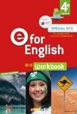 Mélanie Herment et Karine Letellier - Anglais 4e Cycle 4 E for English - Workbook.
