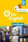 Mélanie Herment et Laura Cursat - Anglais 5e Cycle 4 A2 E for English - Workbook.