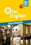Mélanie Herment - Anglais 5e Cycle 4 E for English A2 - Guide pédagogique.