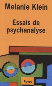 Melanie Klein - Essais de psychanalyse.