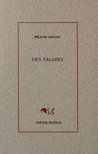 Mélanie Leblanc - Des falaises.