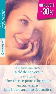 Téléchargement au format ebook epub La clé de son coeur ; Une chance pour le bonheur ; Une bouleversante déclaration
