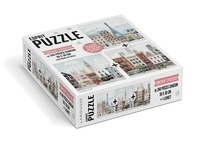 Mélanie Voituriez - Escapades citadines avec Mélanie Voituriez - Contient 3 puzzles de 240 pièces chacun.