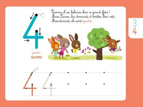 Mes chiffres rugueux Montessori. Avec 1 feutre effaçable 2 couleurs