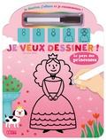 Mélusine Allirol - Je veux dessiner ! Le pays des princesses - Avec un feutre effaçable.