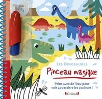 Mélusine Allirol - Les dinosaures - Peins avec de l'eau pour voir apparaitre les couleurs ! Avec un pinceau.