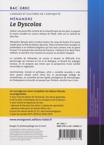 Le Dyscolos Bac Grec