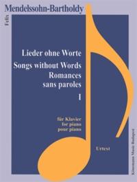 Deedr.fr Mendelssohn-Bartholdy - Romances sans paroles I - pour piano - Partition Image